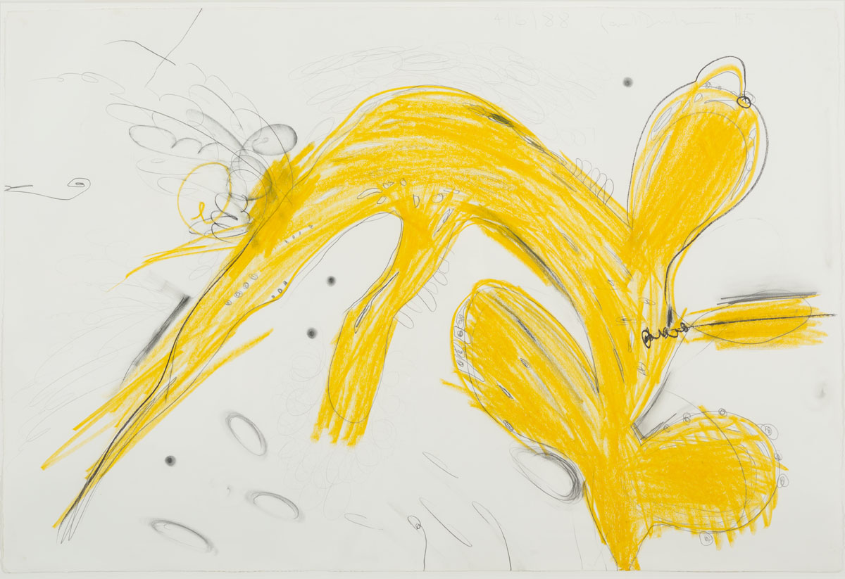 <i>#5 (from Nine Drawings)</i>, 1988, wax crayon, carbon pencil, and graphite on paper,27 3/4 x 41 1/2 inches (70.5 x 105.4 cm)<br><br>